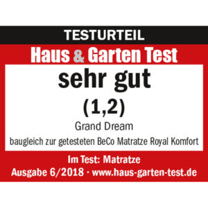 Test sehr gut Matratze Grand Dream